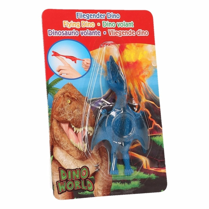 Speelfiguren sets Dino World mini dino katapult Pterosauri rs blauw