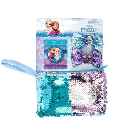 Disney Frozen toilettas set met 2 haarclips en 6 elastiekjes Disney goedkoop online kopen