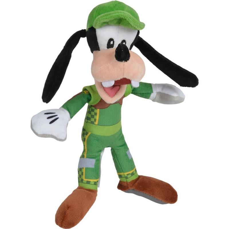 Disney pluche Goofy auto race knuffel 21 cm