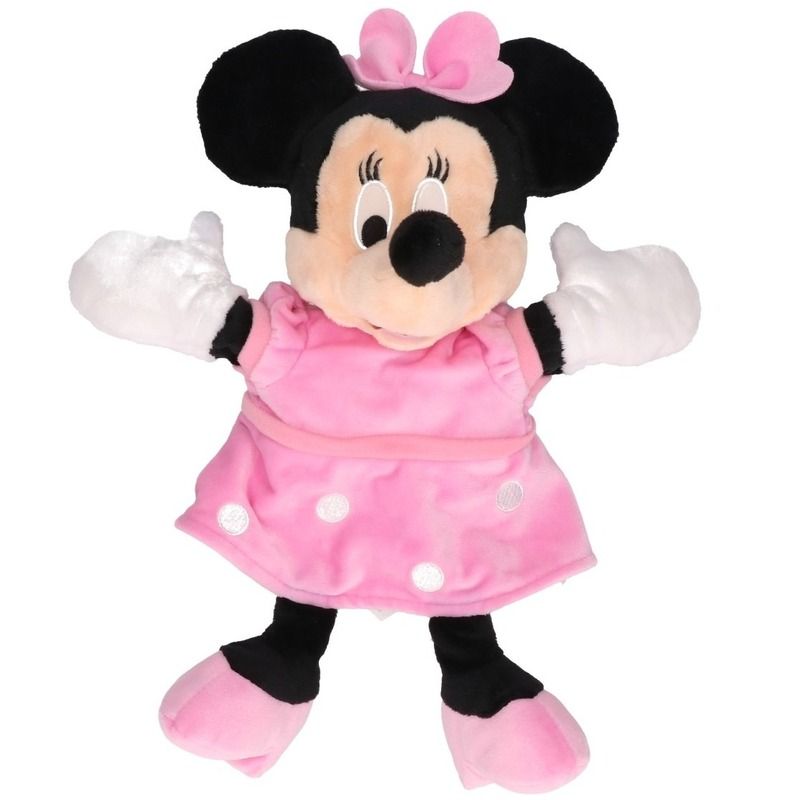 Disney pluche handpop Minnie Mouse 25 cm