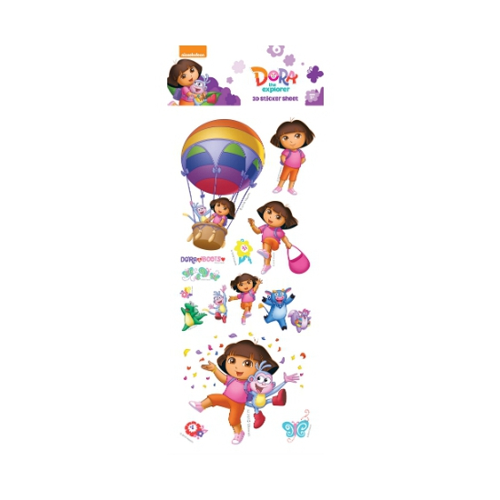 Dora 3d Thema Stickers