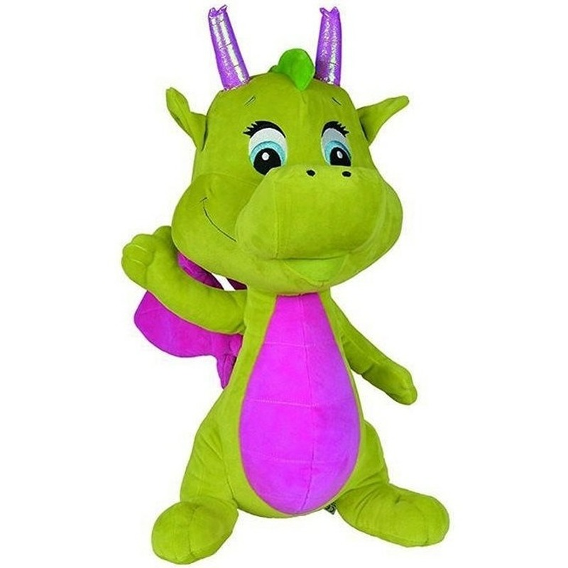Draken knuffel Safiras 50 cm groen