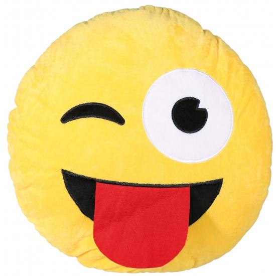 Emoticon kussen tong 50 cm