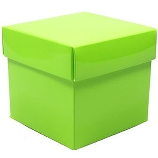 Etalage versiering lime groene kado doos 10 cm