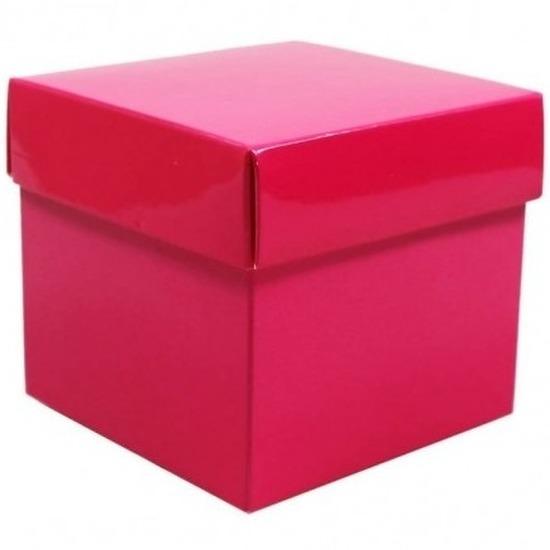 Etalage versiering roze kado doos 10 cm