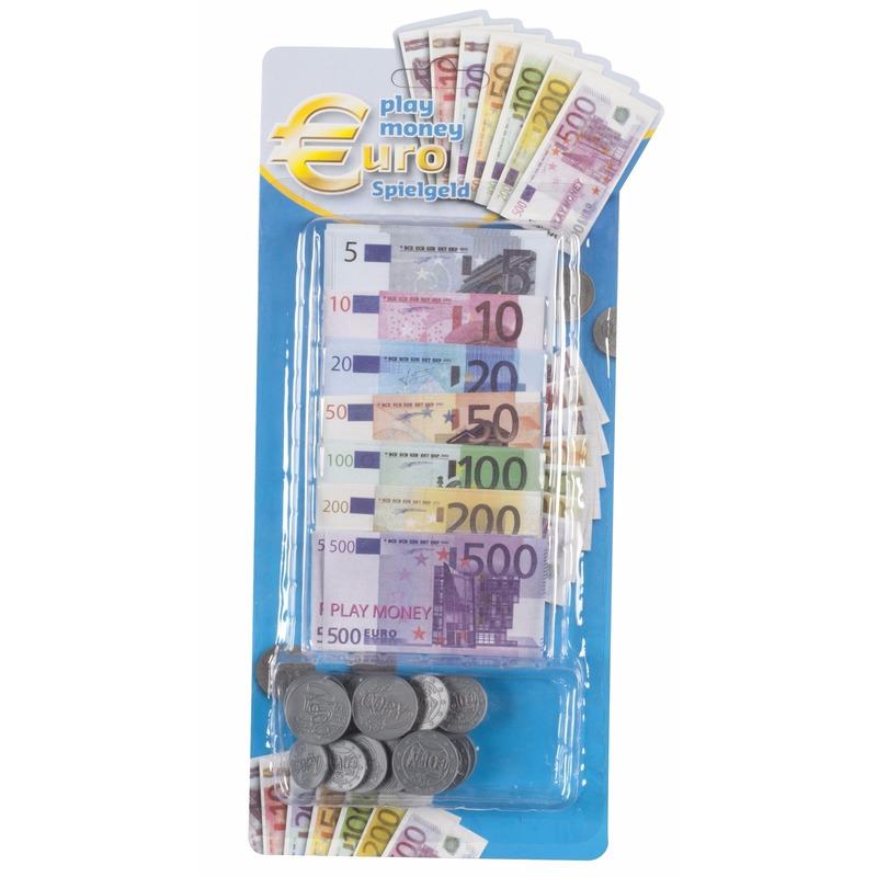 Euro speelgeld set 90 delig Geen Speelgoed diversen
