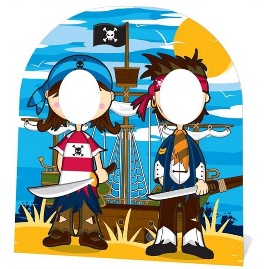 Geen Foto bord piraten vriendjes 120 cm Feestartikelen diversen