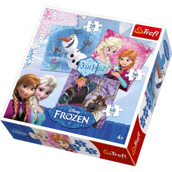 Frozen Puzzels 3 Stuks