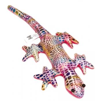 Gekleurde gekko knuffel 21 cm