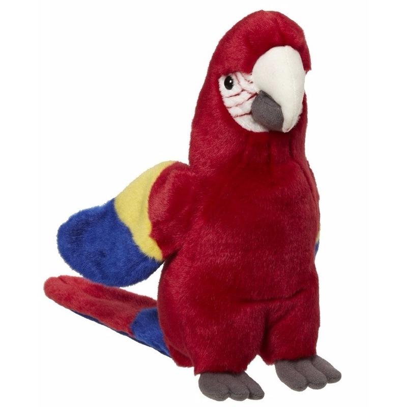 Gekleurde papegaai pluche 21 cm