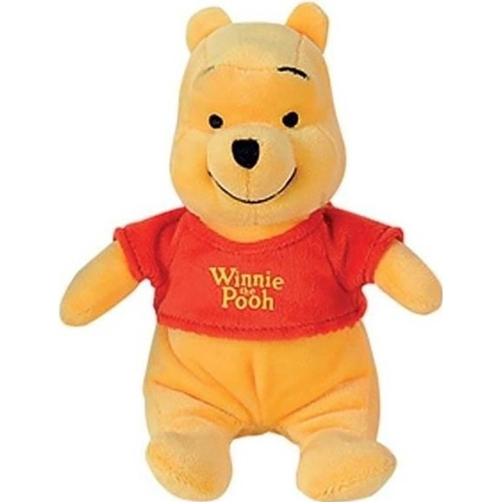 Gele Disney Winnie de Poeh beer knuffel 19 cm speelgoed