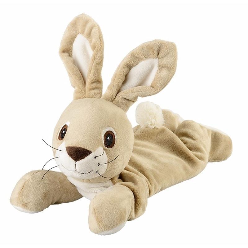 Geurknuffel liggende konijn beige