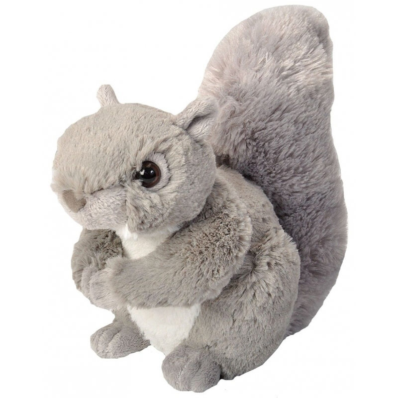 Grijze eekhoorn knuffel pluche 20 cm
