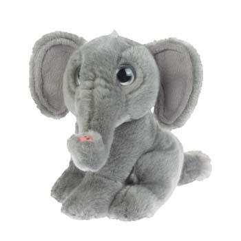 Grijze olifant knuffeldier 18 cm