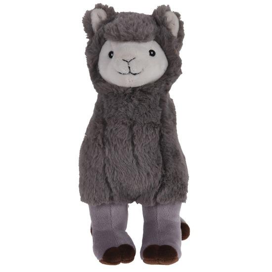 Grijze pluche alpaca/lama knuffel 30 cm