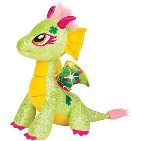 Groen/gele draak knuffel Twinkle Lucky 25 cm