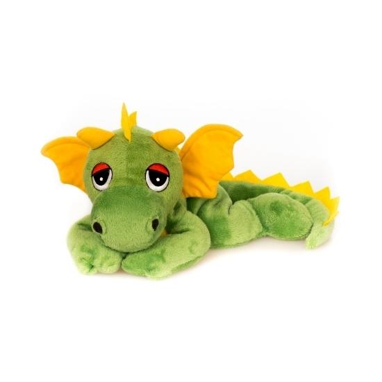 Groene draken knuffel kruik geboorteknuffel 18 cm