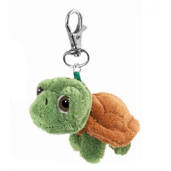 Groene schildpad sleutelhanger
