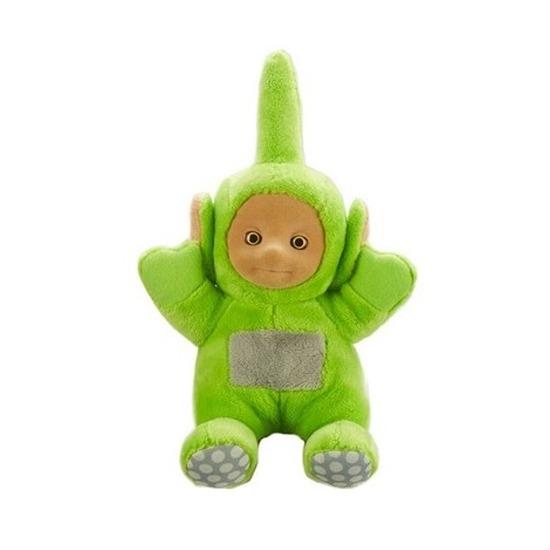 Groene Teletubbies Dipsy speelgoed knuffel/pop met geluid 20 cm