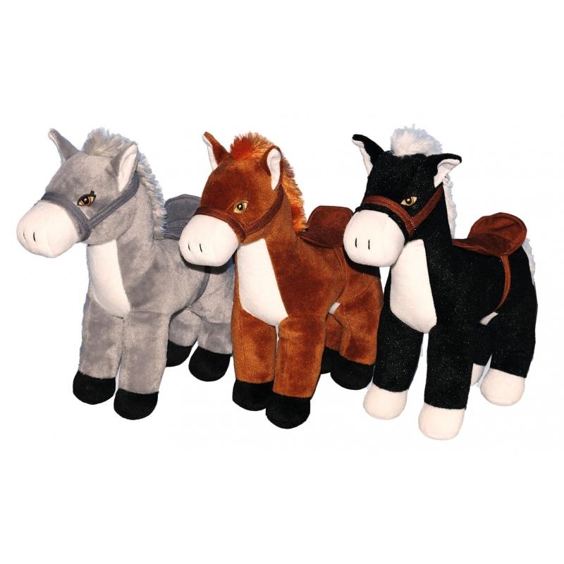 Grote bruine paarden knuffels 30 cm