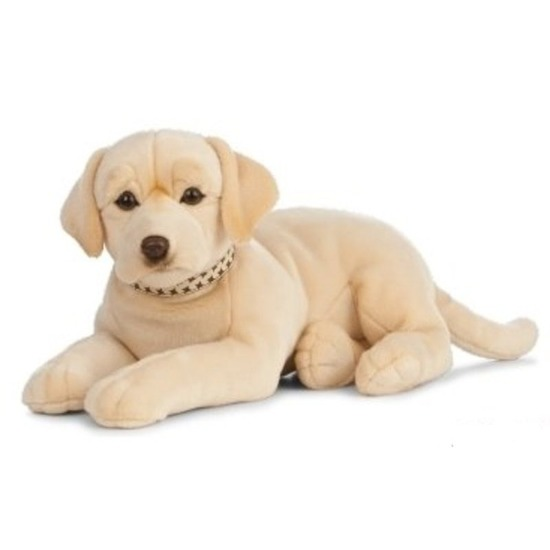 Grote pluche blonde Labrador hond knuffel 60 cm speelgoed