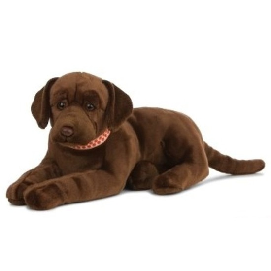 Grote pluche bruine Labrador hond knuffel 60 cm speelgoed