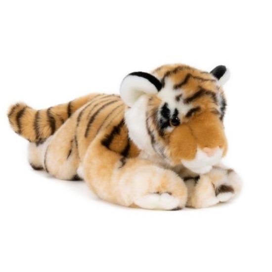 Grote pluche bruine tijger knuffel 46 cm speelgoed