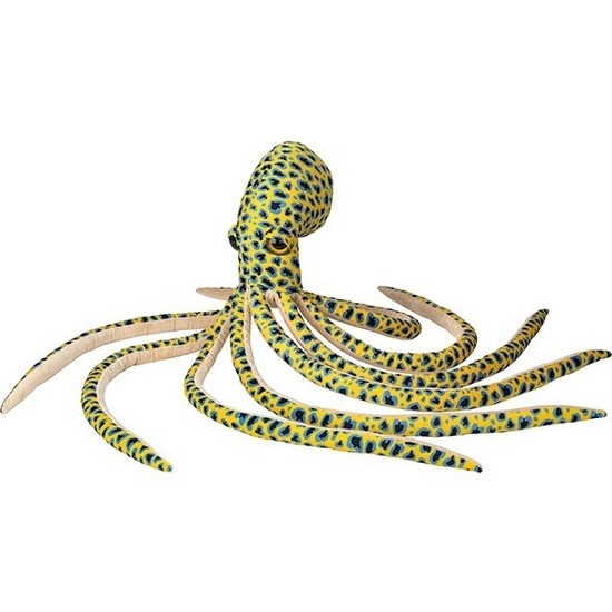 Grote pluche gele octopus/inktvis knuffel 100 cm speelgoed