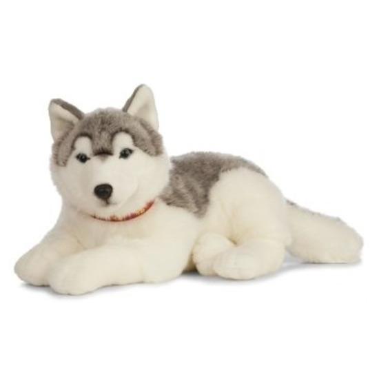 Grote pluche grijs/witte Husky hond knuffel 60 cm speelgoed
