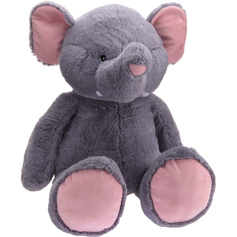 Grote pluche knuffel olifant van 100 cm