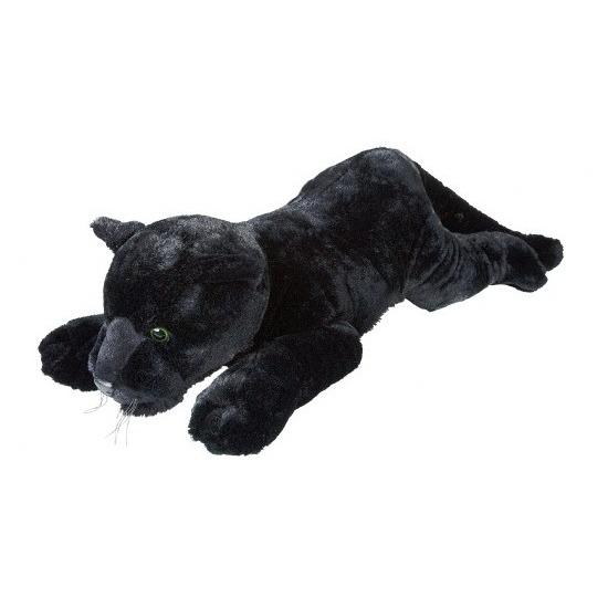 Grote pluche zwarte panter liggend knuffel 60 cm speelgoed