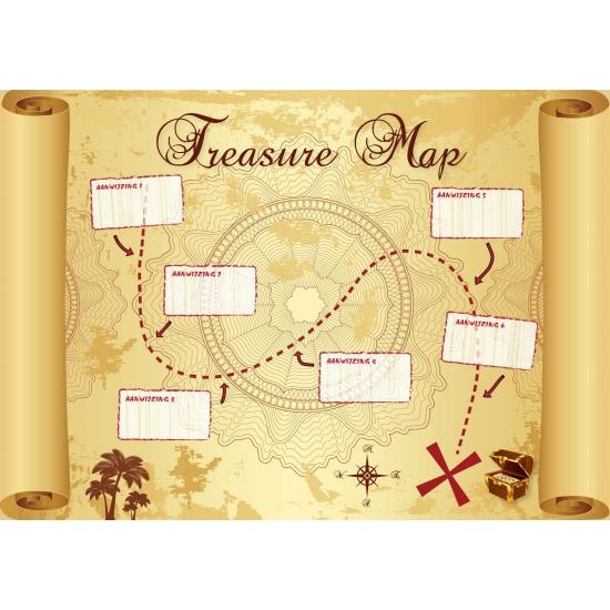 Grote schatkaart voor kinderen Shoppartners Thema feestartikelen