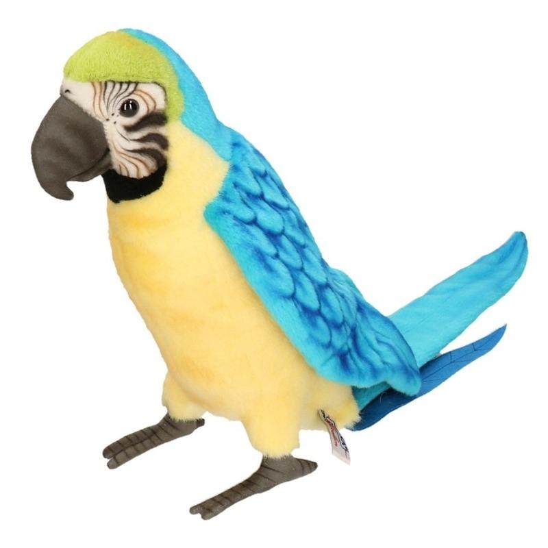 Hansa pluche Ara papegaai knuffel blauw 72 cm