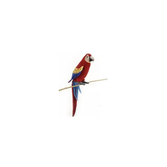Hansa pluche Ara papegaai knuffel rood 72 cm