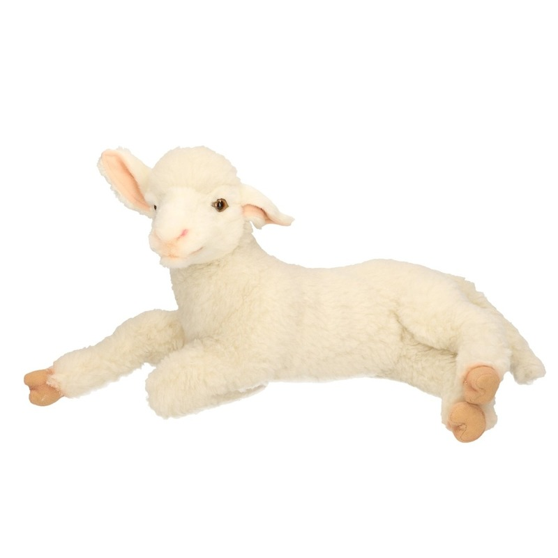 Hansa pluche lam/schaap knuffel liggend 33 cm