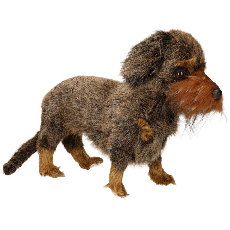 Hansa pluche teckel hond knuffel 23 cm