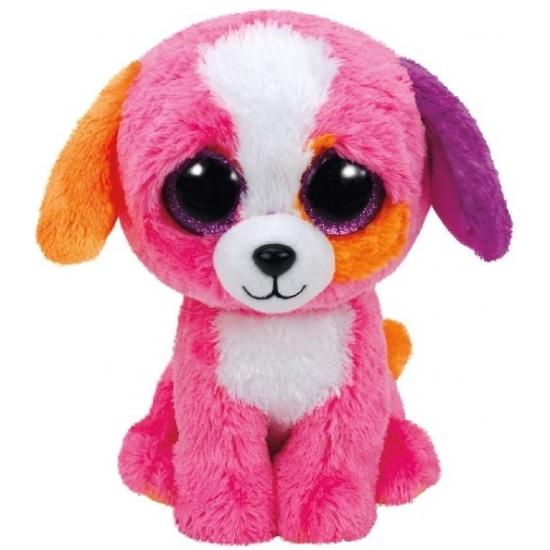 Hond/puppy Ty Beanie knuffel Precious 24 cm