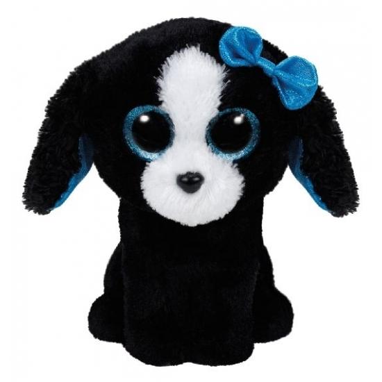 Honden knuffel zwart Ty Beanie 15 cm
