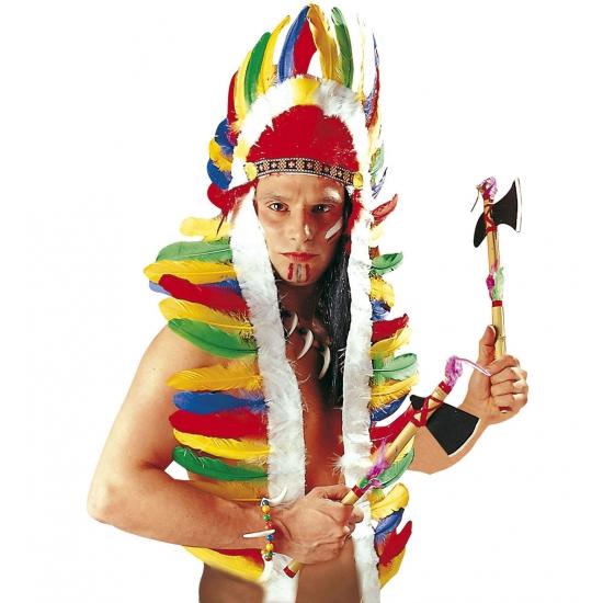 Indianentooi met gekleurde veren