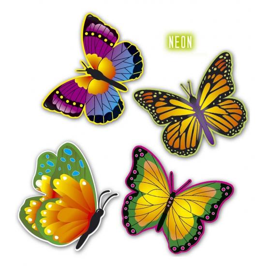 Kartonnen deco vlindertjes