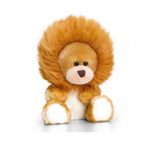 Keel Toys pluche beer knuffel met leeuwen manen 14 cm