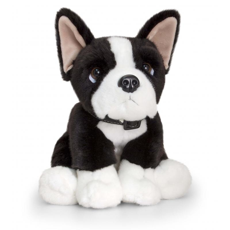 Keel Toys pluche Boston Terrier hond knuffel 35 cm
