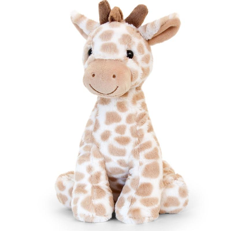 Keel Toys pluche bruine giraffe knuffel 26 cm