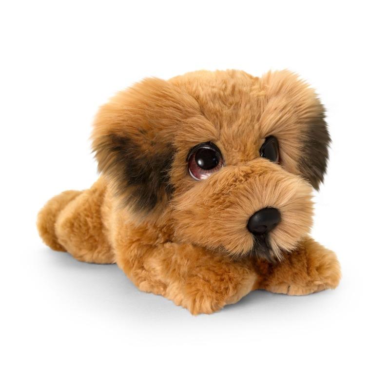 Keel Toys pluche bruine Ierse terrier honden knuffel 37 cm