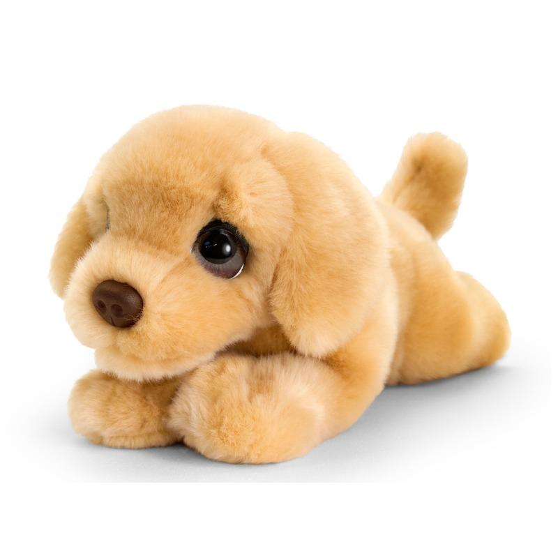 Keel Toys pluche bruine Labrador honden knuffel 25 cm