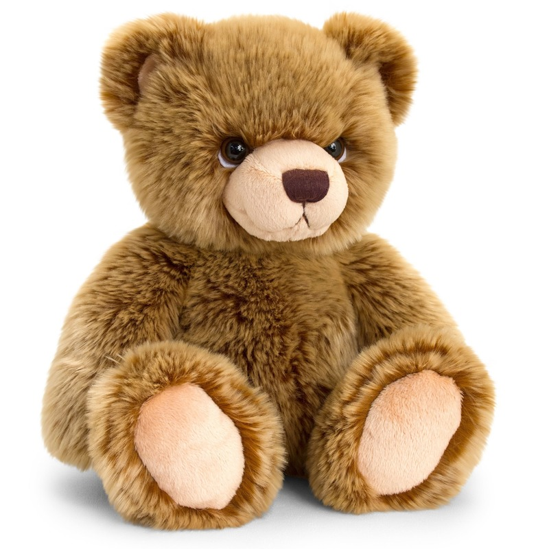 Keel Toys pluche donkerbruine beren knuffel 45 cm
