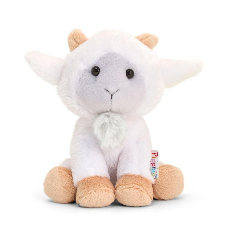 Keel Toys pluche geitje/bokje knuffel 14 cm