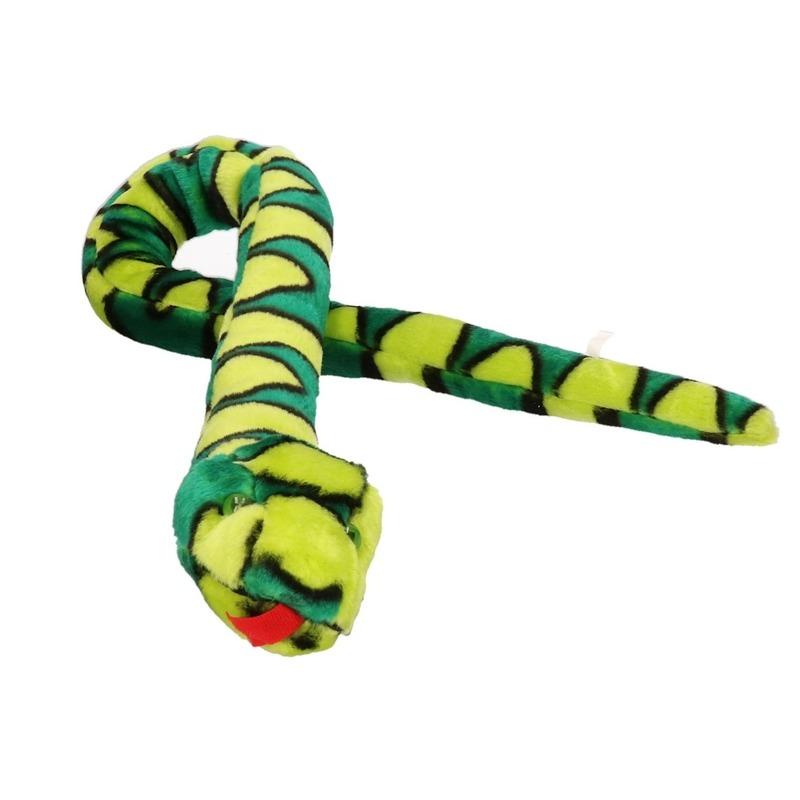 Keel Toys pluche lime/groene slang knuffel 100 cm