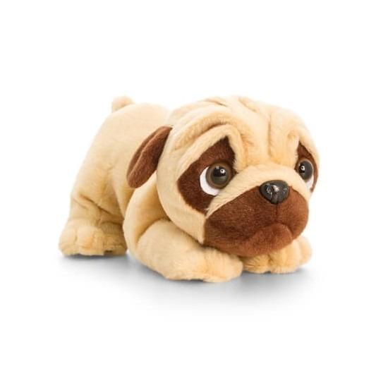 Keel Toys pluche mopshond knuffel met geluid 26 cm