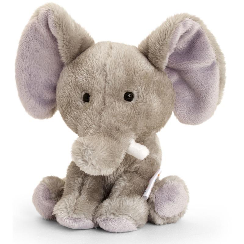 Keel Toys pluche olifant knuffel 14 cm